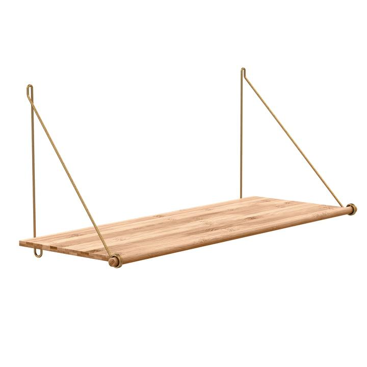 Loop Shelf de We Do Wood en bambou et laiton