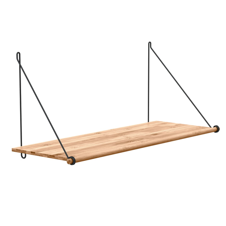 Loop Shelf de We Do Wood en bambou et acier noir