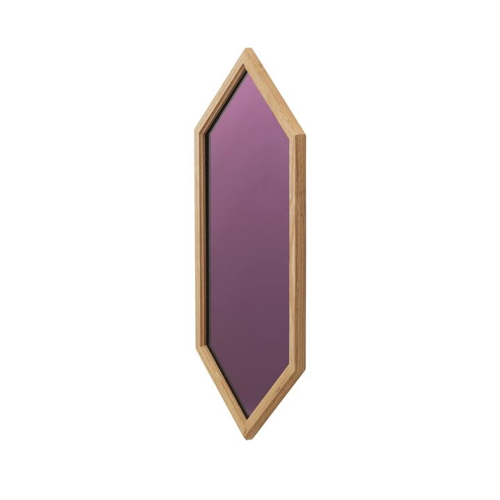 Lust Mirror 70x29cm de Normann Copenhagen de couleur violette