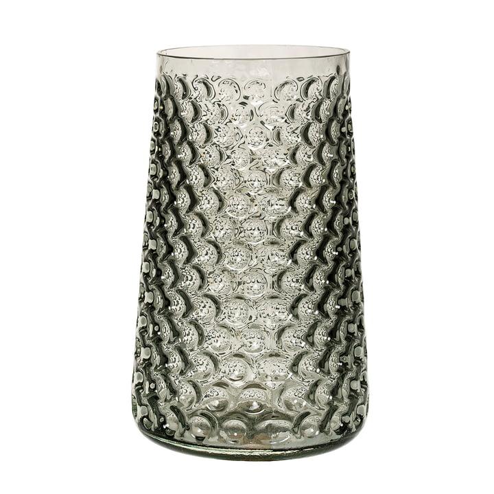 Le vase en verre de Bloomingville en smokey grey