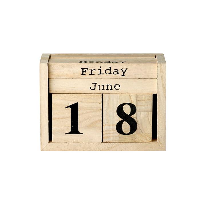Bloomingville - Le calendrier de bureau en naturel/noir
