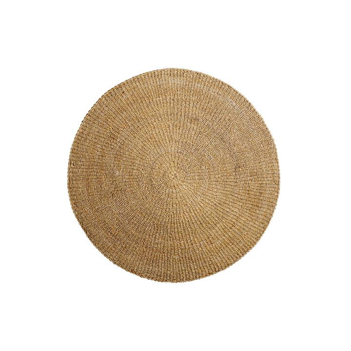 Tapis en fibres naturelles Ø120 cm de Bloomingville en herbe de mer