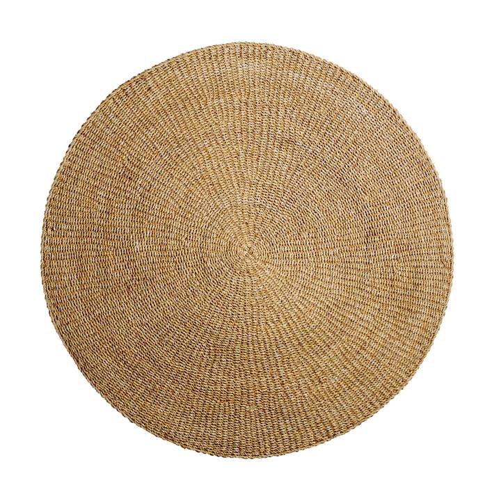 Tapis en fibres naturelles Ø 200 cm de Bloomingville en herbe marine
