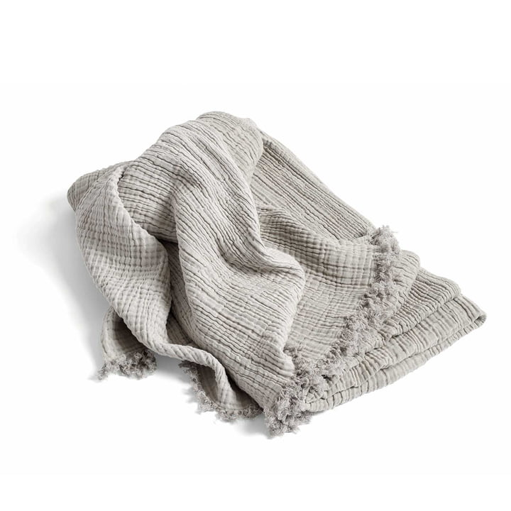 Le couvre-lit Crinkle Bedspread de Hay en gris