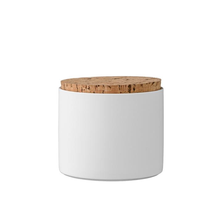 Boîtes à provisions avec couvercle h11,8cm de Bloomingville en blanc