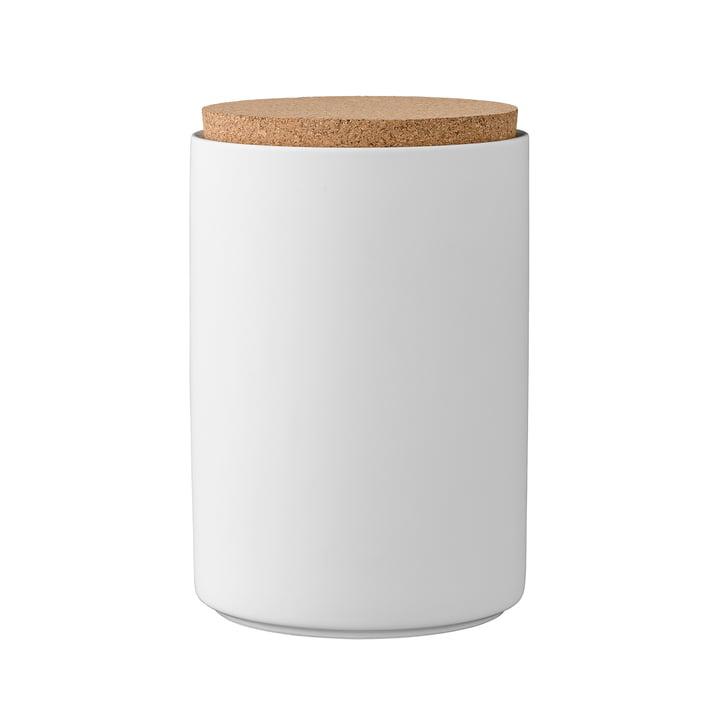 Boîte à provisions avec couvercle h16cm de Bloomingville en blanc