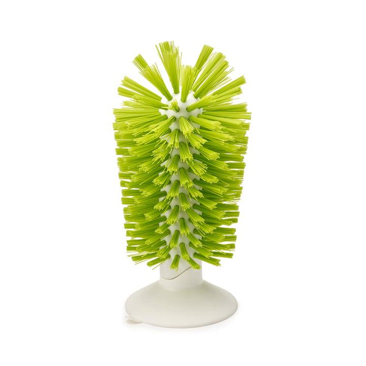 Brosse pour évier avec ventouse Brush-up de Joseph Joseph en blanc/vert