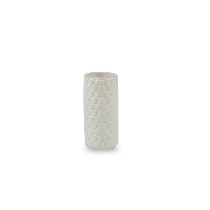 Le vase en céramique de Bloomingville Ø4 x H9cm en blanc