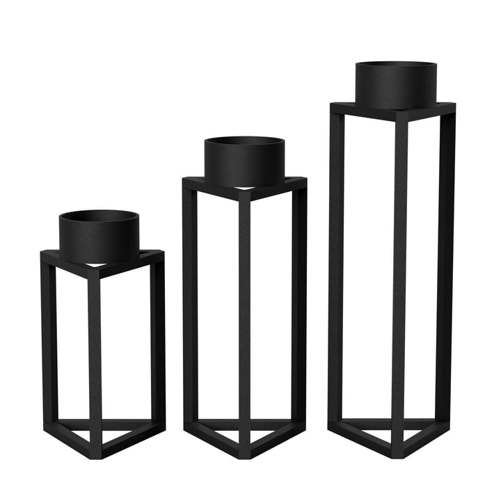 Nichba Design - Porte-bougies Build my light en noir