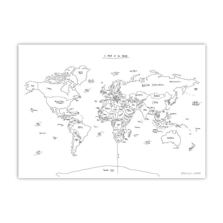 Awesome Maps - Carte du monde illustrée à la main Sketch Map