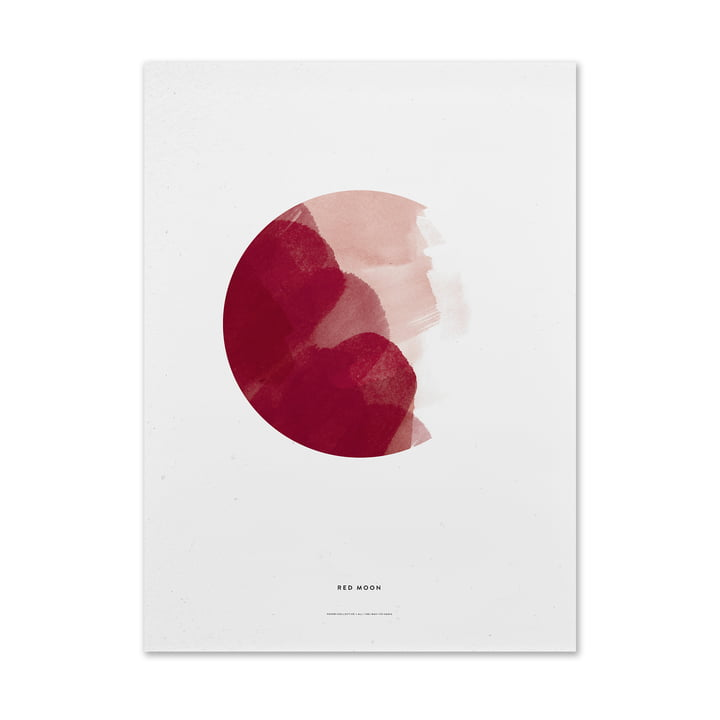 Paper Collective - Poster Red Moon