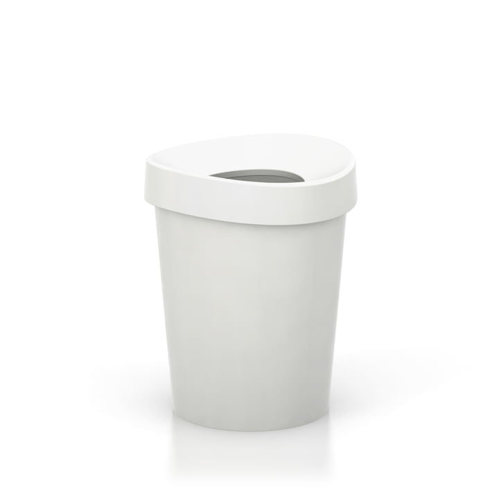 Petite corbeille à papier Happy Bin de Vitra en blanc