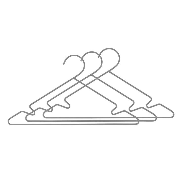 Cintres d'enfant en métal (set de 3 pièces) de Sebra en gris