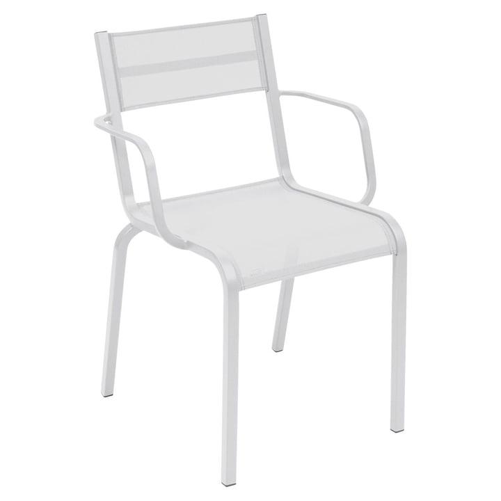 Le fauteuil Oléron par Fermob en blanc coton