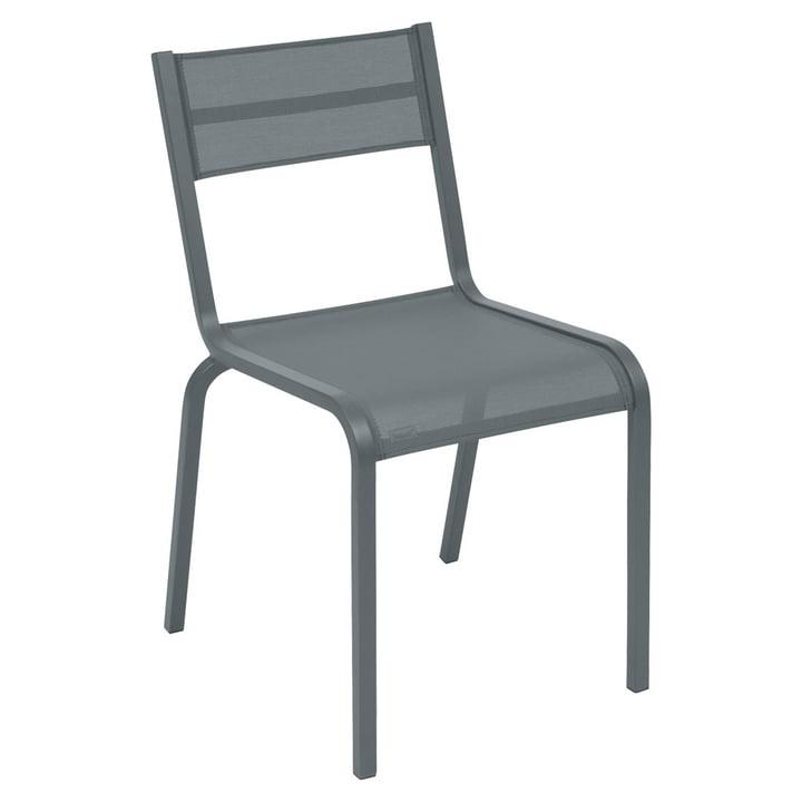 La chaise Oléron par Fermob en gris orage