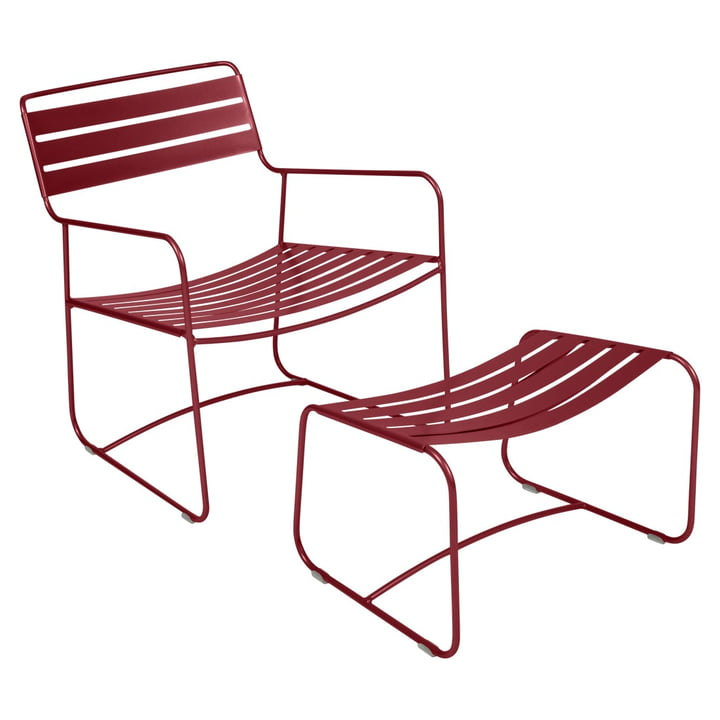 Fermob - Surprising Lounger + Footstool in Chili