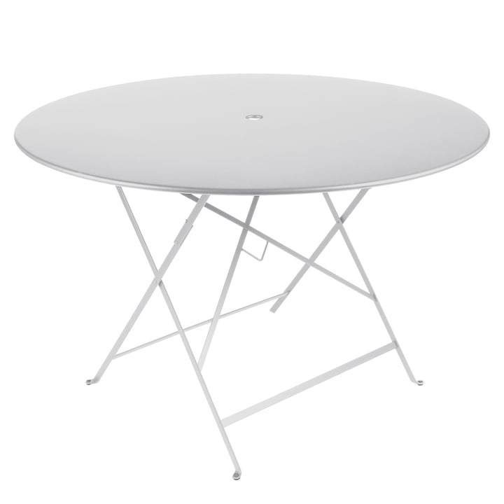 La Table Bistro Ø 117 cm par Fermob en blanc coton