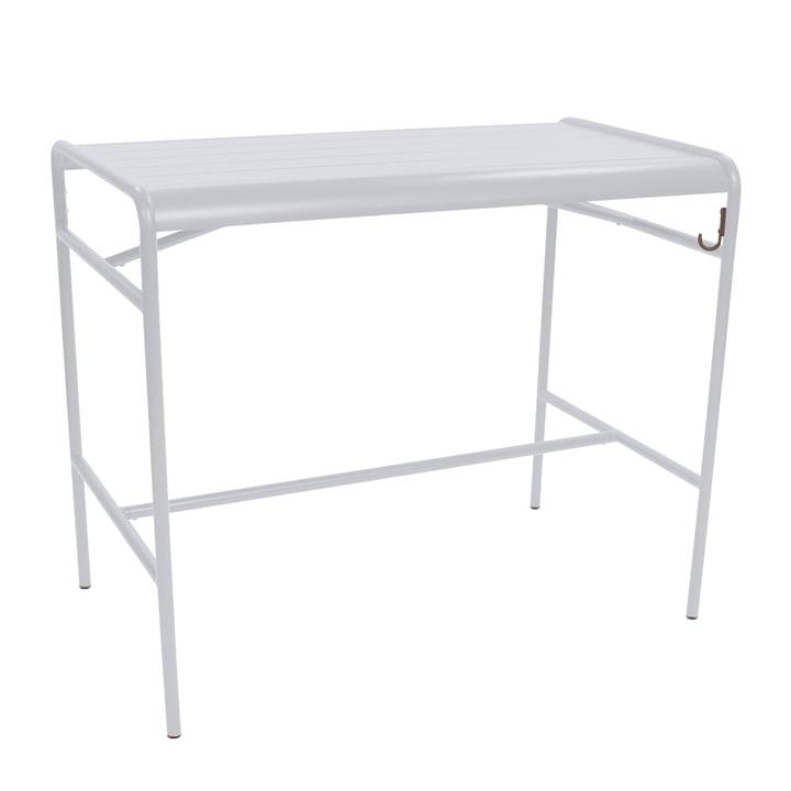 Table de bar Luxembourg 73 x 126 cm par Fermob en blanc coton