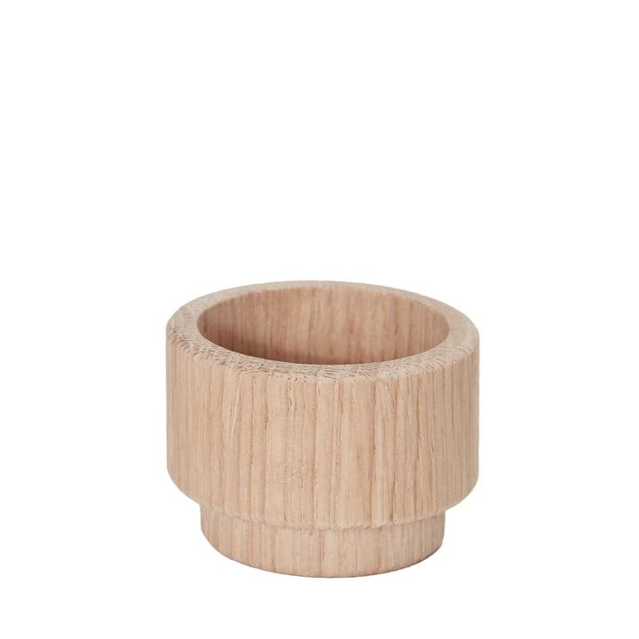 Support pour bougies chauffe-plat Create Me 3,5 cm d'Andersen Furniture en bois de chêne