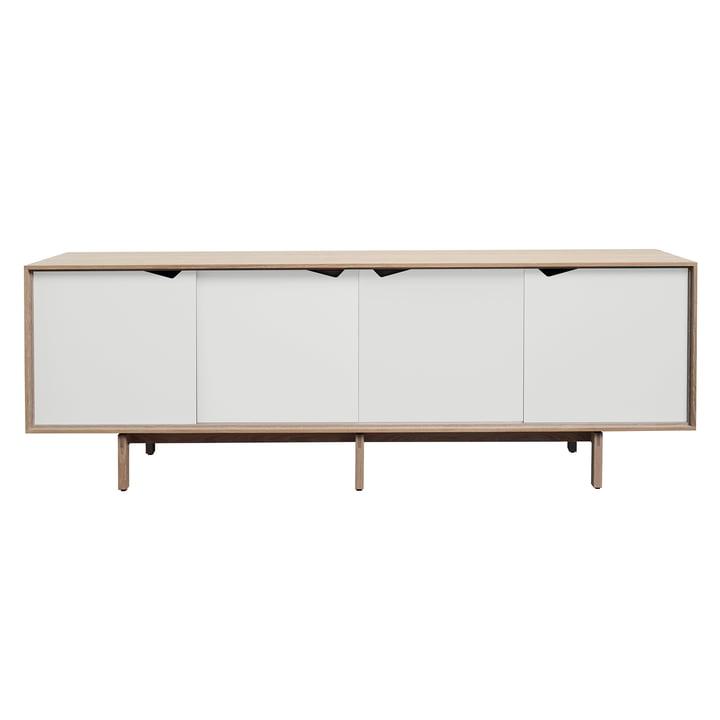 Bahut S1 d'Andersen Furniture en chêne savonné / portes blanches