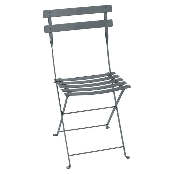 Fermob - Bistro chaise pliante métallique, storm grey