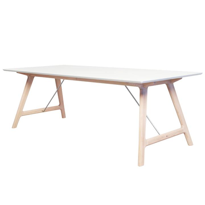 La table extensible T7 220cm d'Andersen Furniture en chêne savonné/blanc