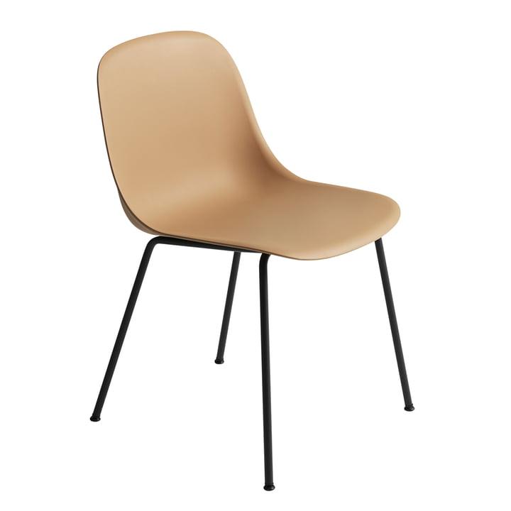 Fiber Side Chair - Tube Base par Muuto en ocre / noir