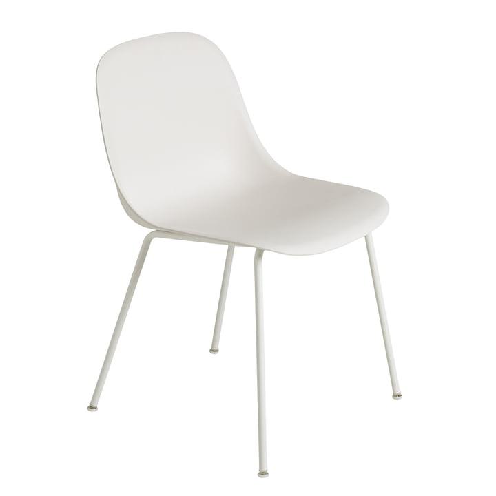 Fiber Side Chair - Tube Base par Muuto en blanc naturel / blanc