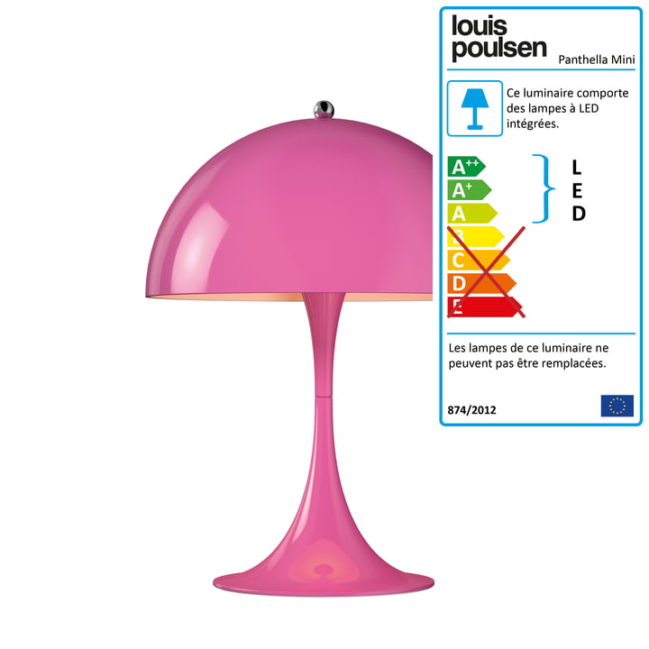 Mini lampe de table Panthella Ø 25 cm de Louis Poulsen en rose