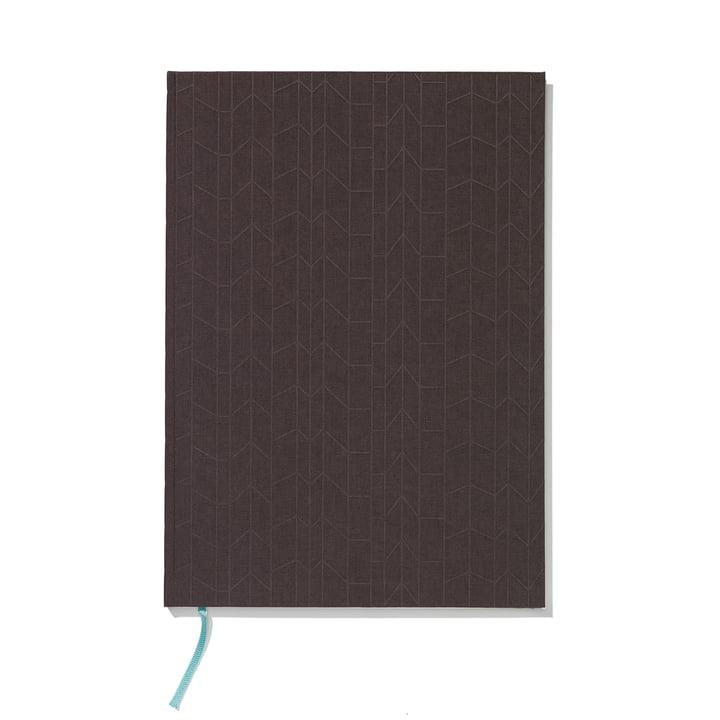 Carnet à couverture rigide A4 par Vitra en anthracite / Mint