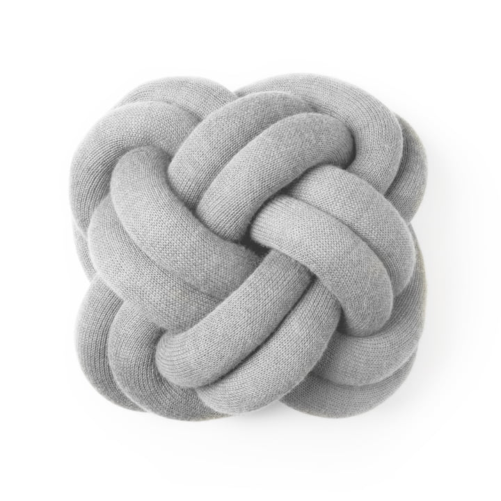 Design House Stockholm - Coussin Knot, gris clair