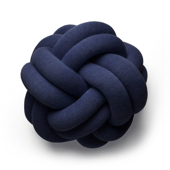 Design House Stockholm - Coussin Knot, bleu marine
