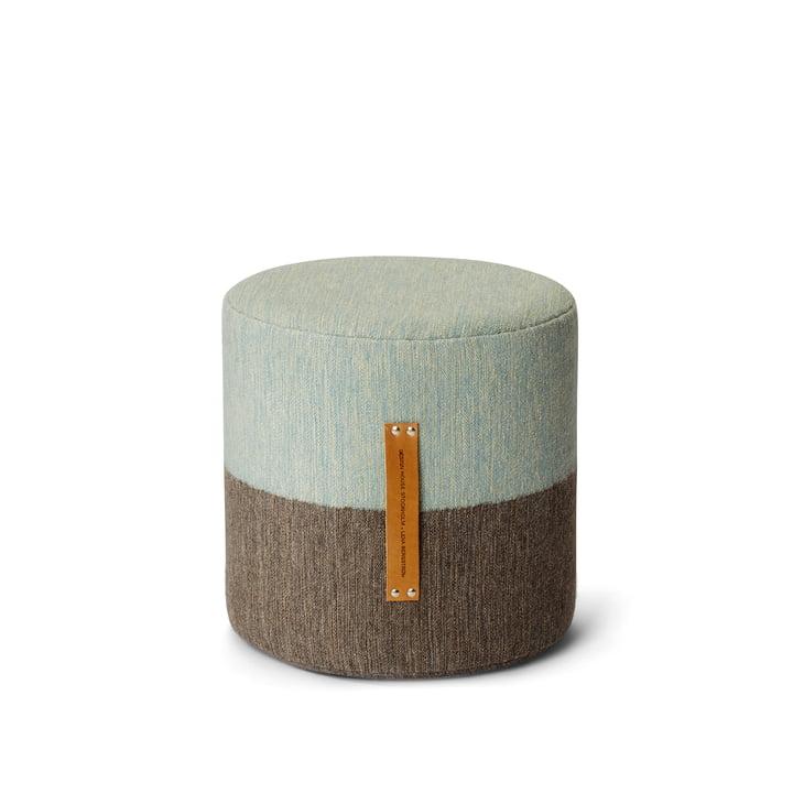 Design House Stockholm - Pouf Fields, marron / bleu