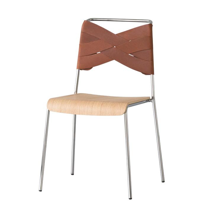 Chaise Torso de Design House Stockholm en chêne / cognac