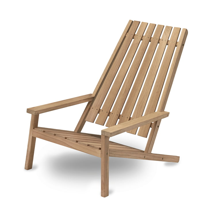 Between Lines Deck Chair par Skagerak en bois de teck