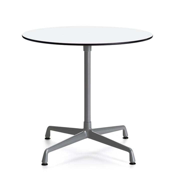 Table Contract Outdoor ronde de Vitra en blanc/gris foncé