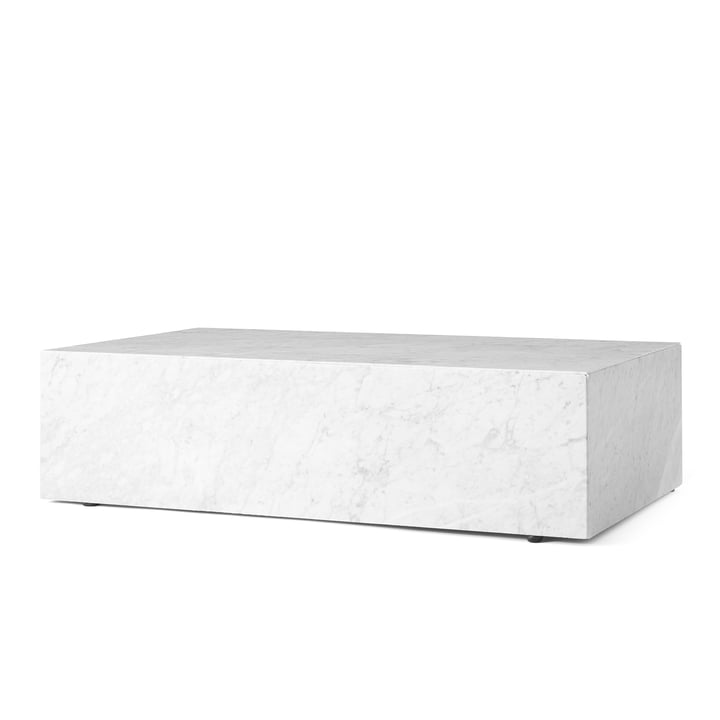 Socle table basse de Menu en blanc