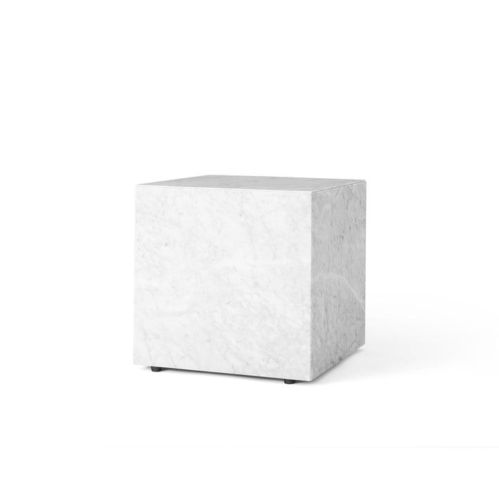Table d'appoint Cubic Menu Plinth en blanc