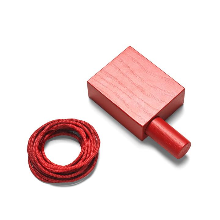 Dispositif de suspension Ready Made Curtain de Kvadrat en rouge (600)