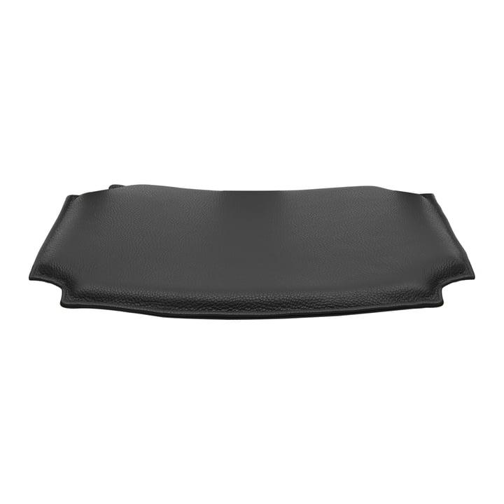 Coussin en cuir pour CH24 Wishbone Chair de Carl Hansen en noir