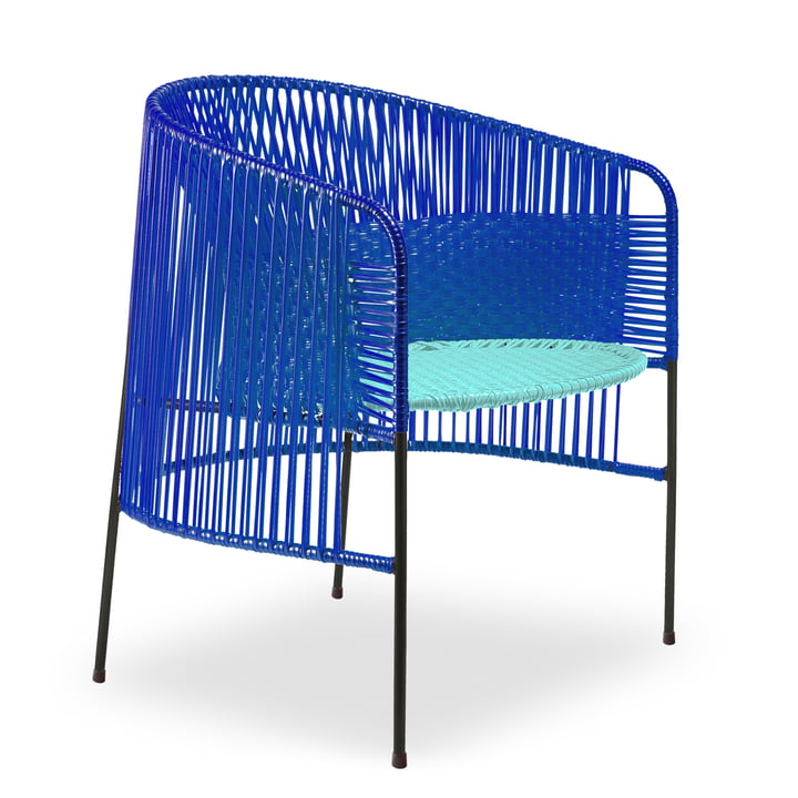 Ames - caribe Lounge Chair, bleu / mint / noir