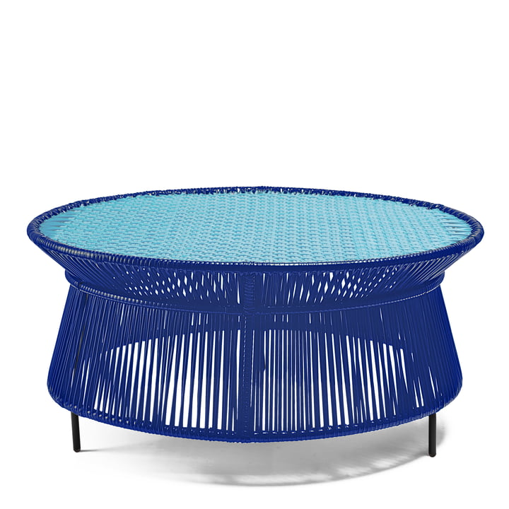 Ames - caribe Low Table, bleu / mint / noir