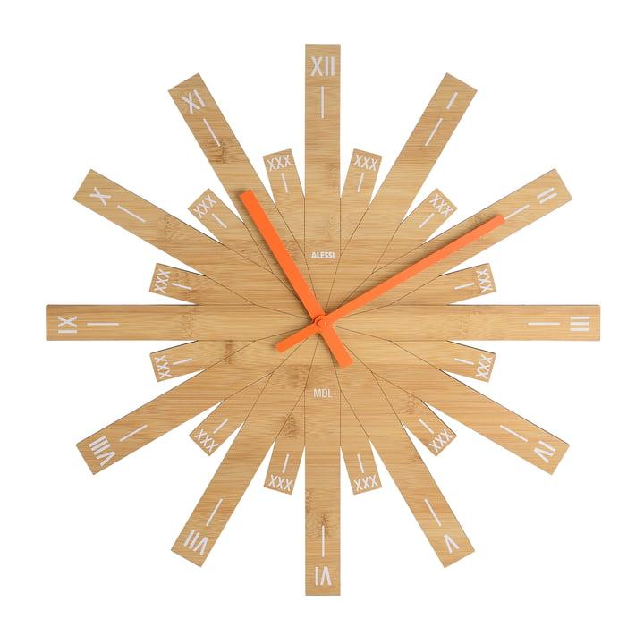 Horloge murale Raggiante par Alessi