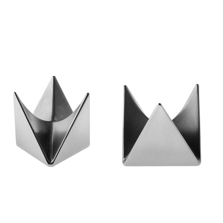 Coquetier Roost d'Alessi en aluminium (lot de 2)