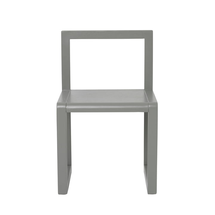 Petite chaise d'architecte de ferm Living in grey