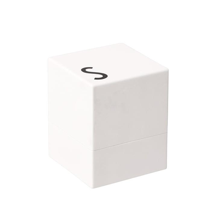 Salière de Design Letters en blanc