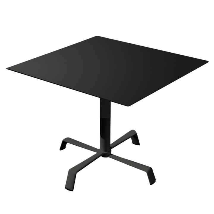 Table Tonik 70 x 70 cm, structure Elica de Fast en noir