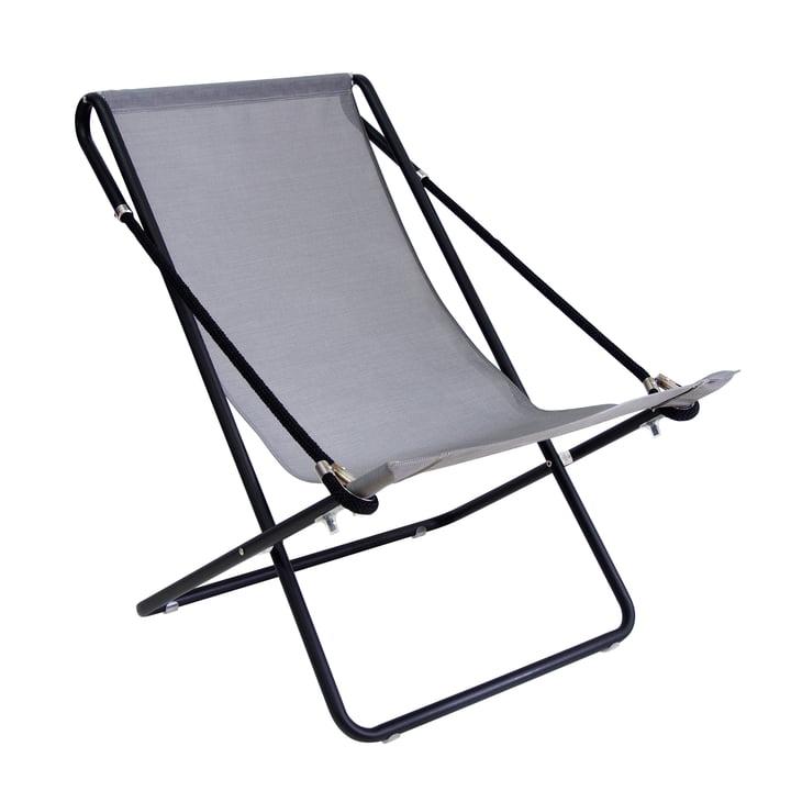 Chaise longue Vetta d'Emu en noir