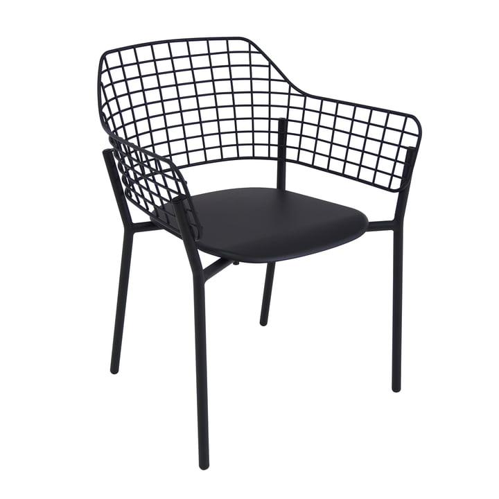 Chaise à accoudoirs Lyze d'Emu en noir