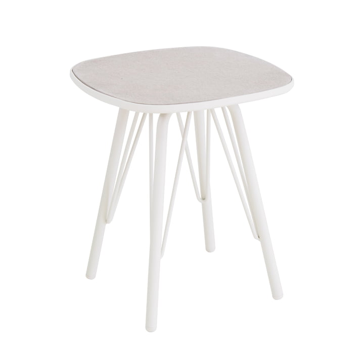 Table Lyze 40 x 40 cm d'Emu en blanc